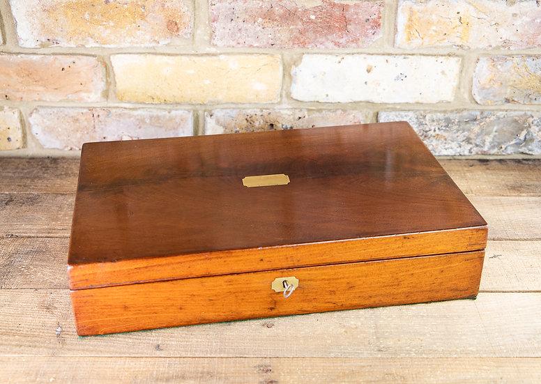 Large Flamed Mahogany Collectors Box 1880 SOLD