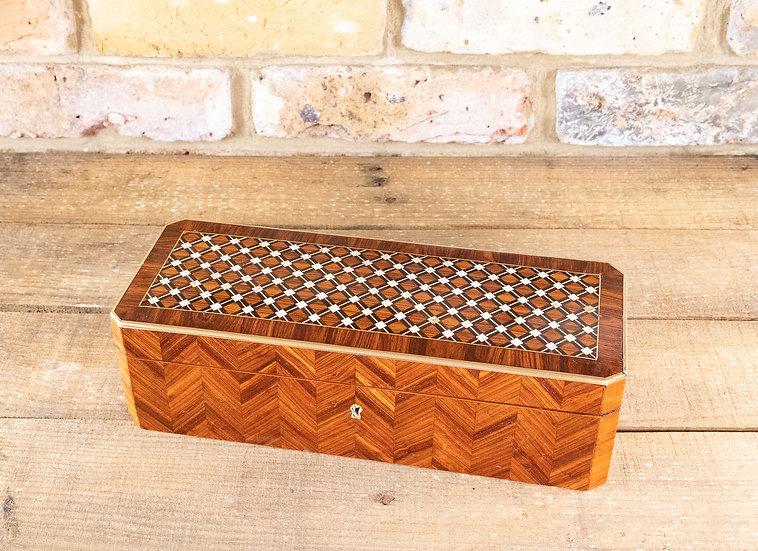 Stunning Kingwood Glove Box 1880 SOLD
