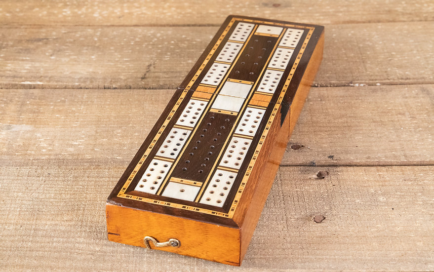 Mahogany & Rosewood Cribb Box 1890