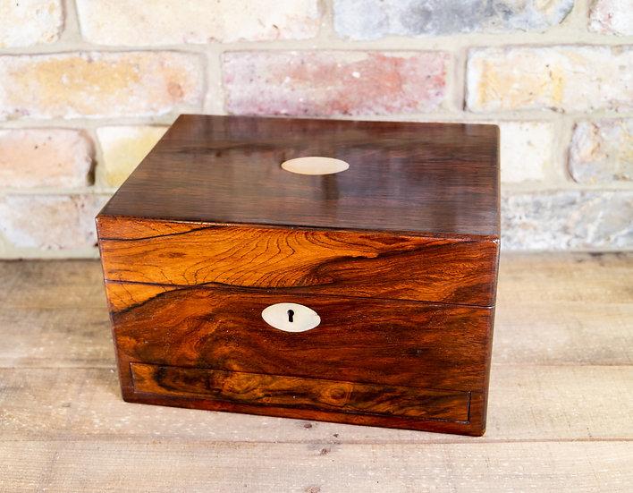Rosewood Vanity Box 1850 SOLD