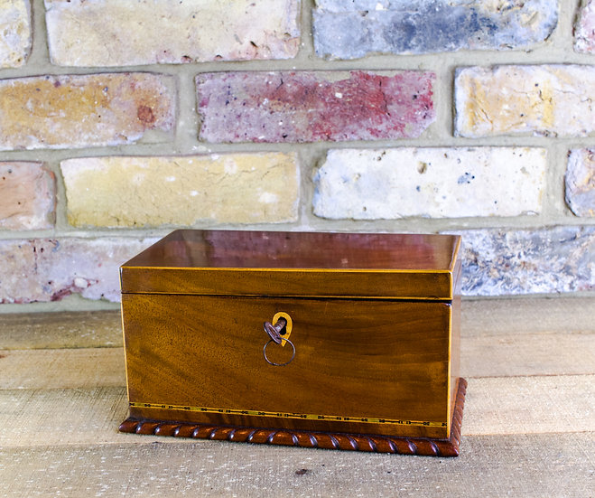 Mahogany Tea Caddy c.1830 SOLD