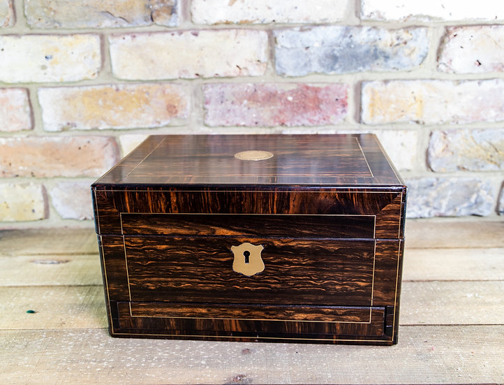 Coromandel Victorian Vanity Box c.1840 SOLD