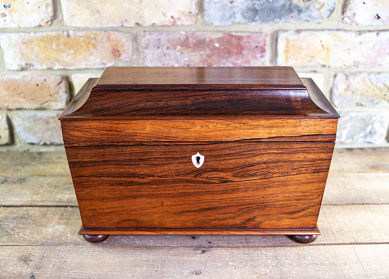 Large Rosewood William IV Tea Caddy SOLD
