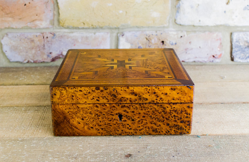 Amboyna Inlaid Table box c.1890 SOLD