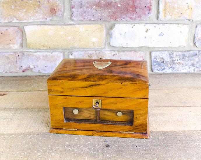 Figured Walnut Jewellery Box c.1890 SOLD
