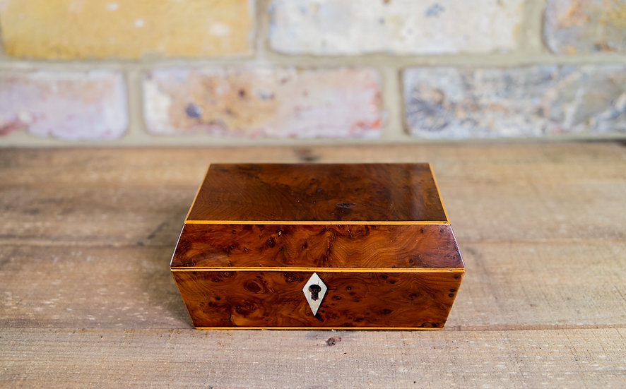 Small Burr Yew Table Box c.1810 SOLD