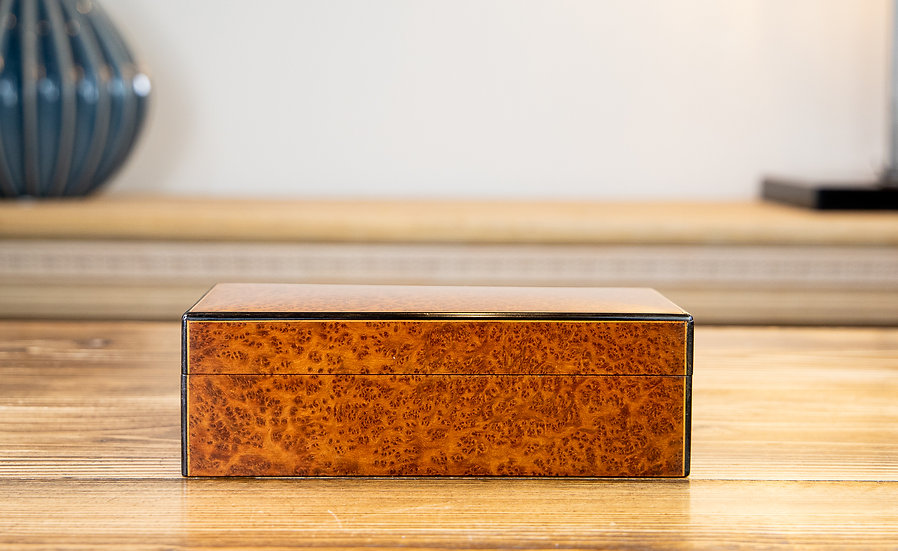 Amboyna Cigarette Box 1920 RESERVED
