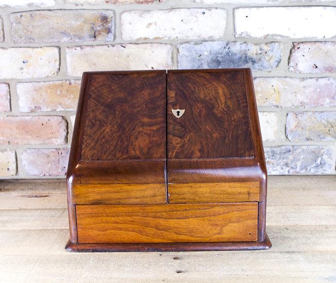 Walnut Stationery Cabinet c.1890 SOLD