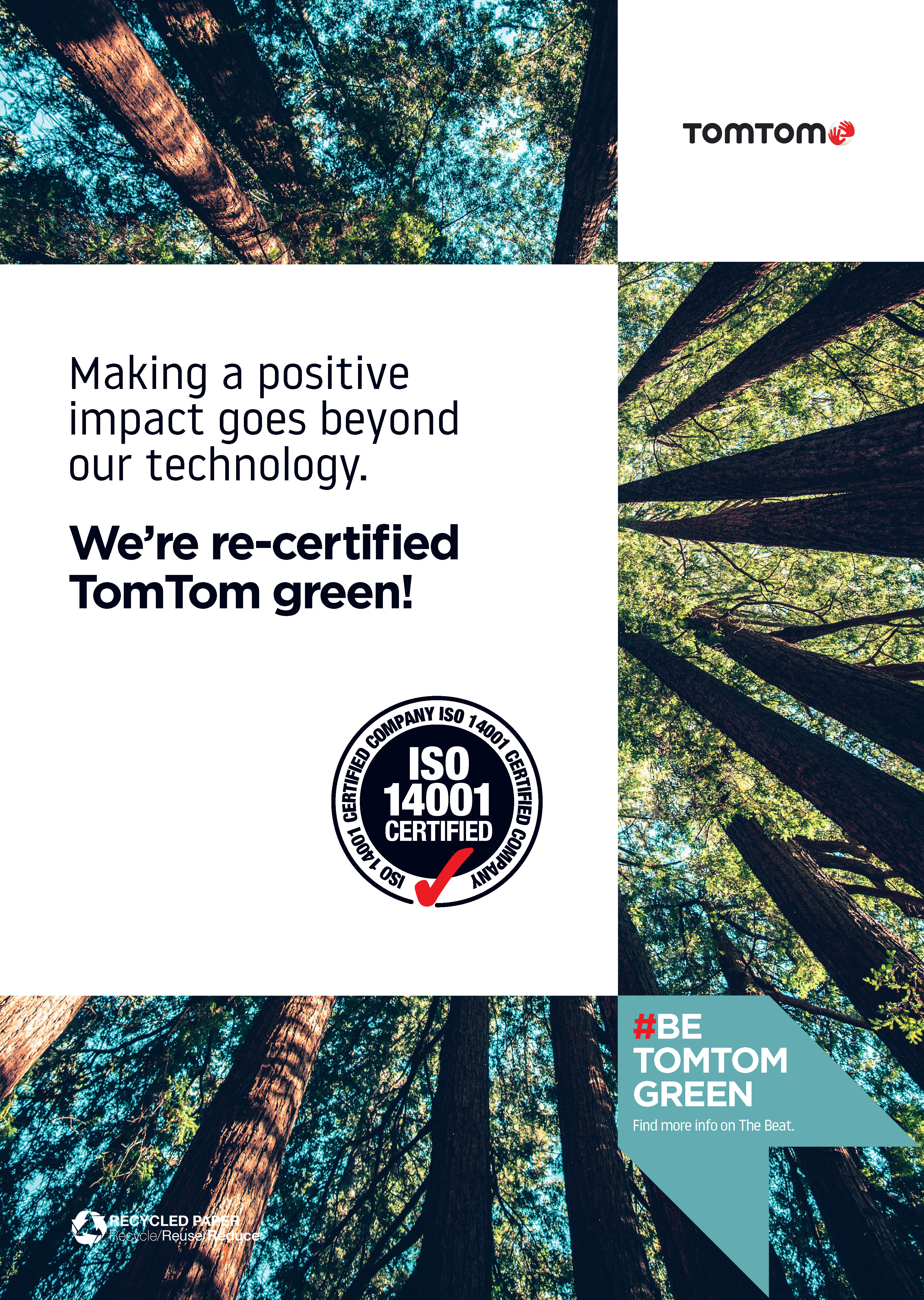Be TomTom Green poster