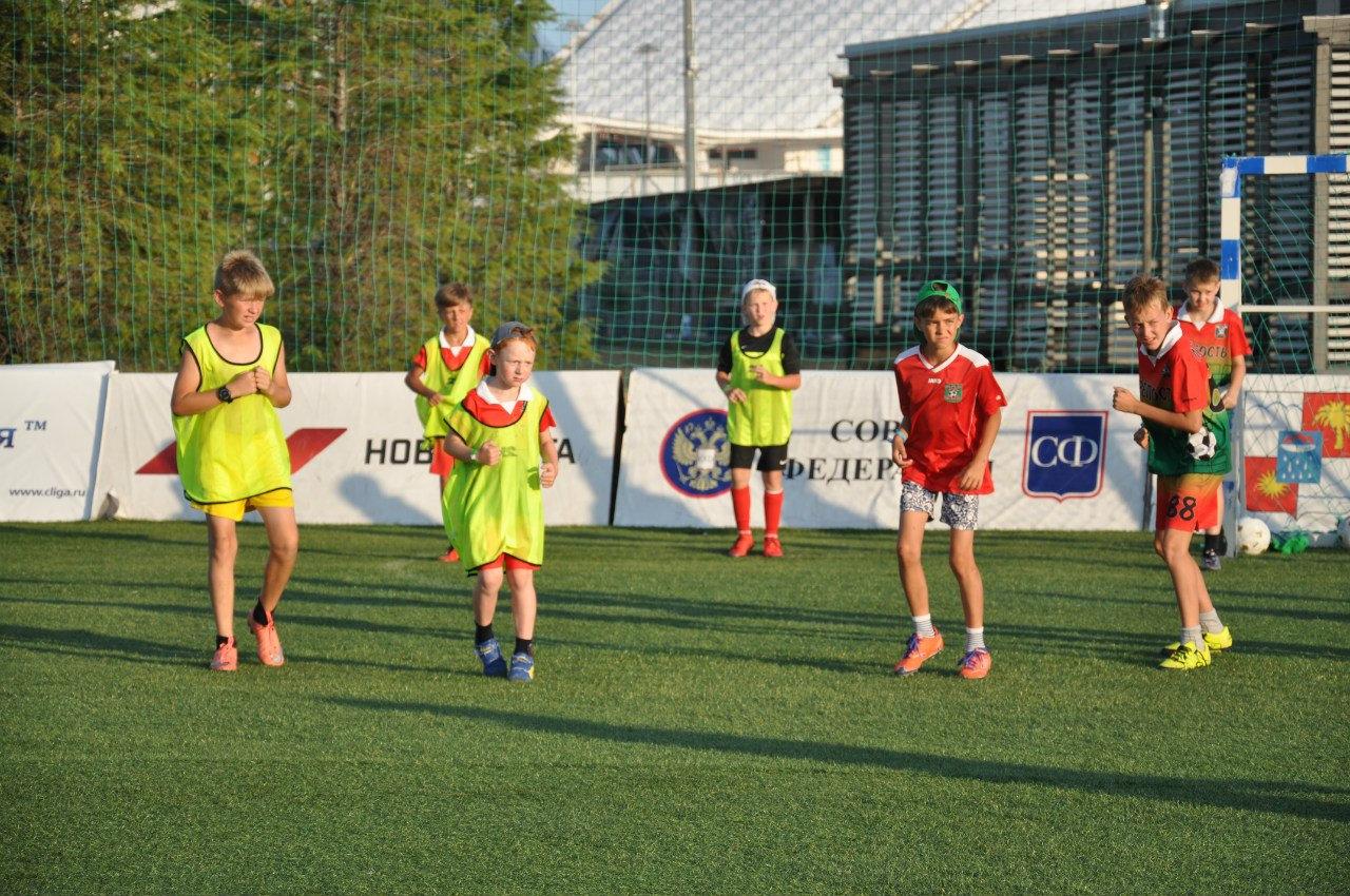 Тренировка по футболу 2005-2003 г.р.