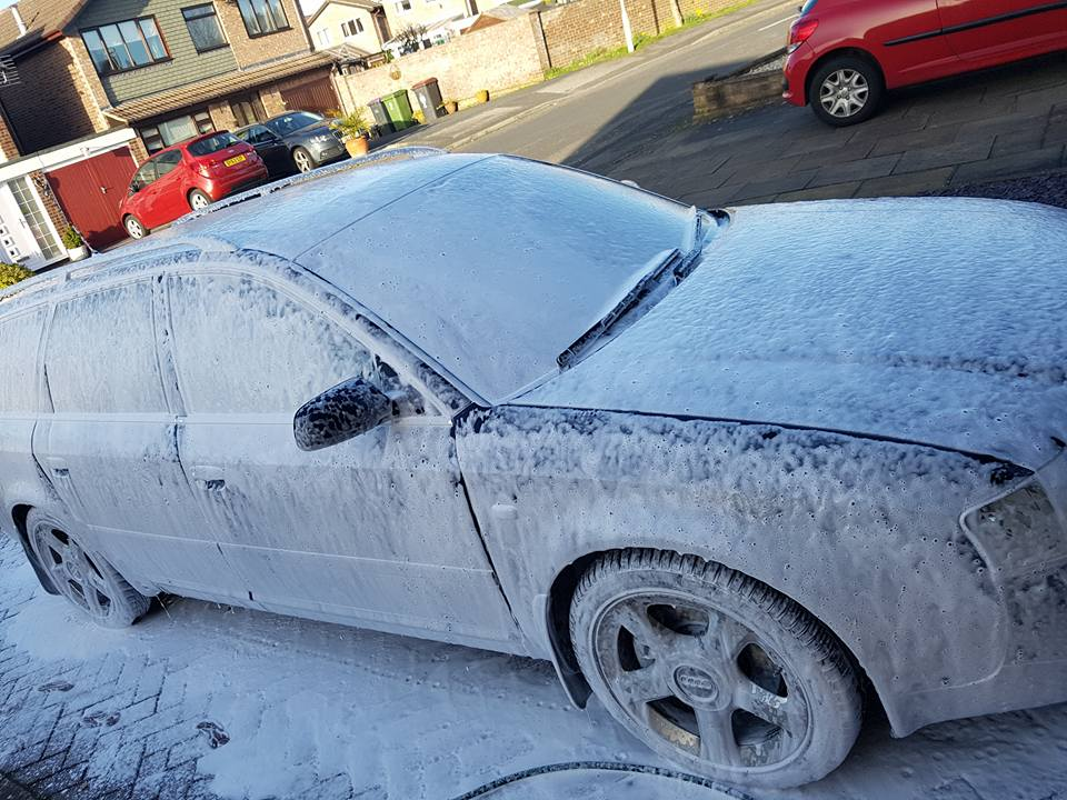 Snow Foam working its magic!