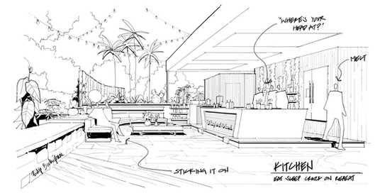 Love Island Villa Kitchen Print Architec