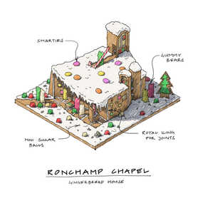 Ronchamp Chapel Gingerbread House Isomet