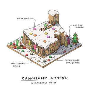 Ronchamp Chapel Gingerbread House Isomet