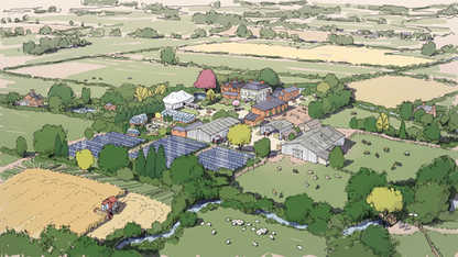 Rural Farm Redevelopment Illustration ©