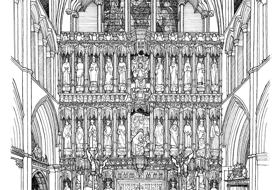 The Sanctuary of Southwark Cathedral Print