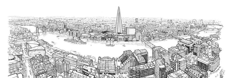 View from 20 Fenchurch Street Print