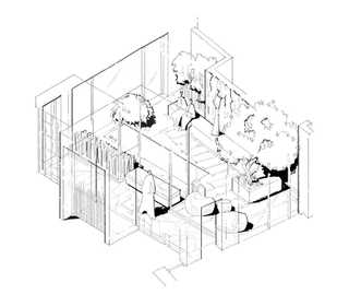 Isometric Courtyard Architectural Illust