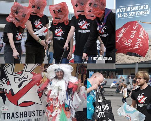 Aktion am Alexanderplatz in Berlin. Fotos: NAJU/Meike Lechler, unten links: C. Wronski