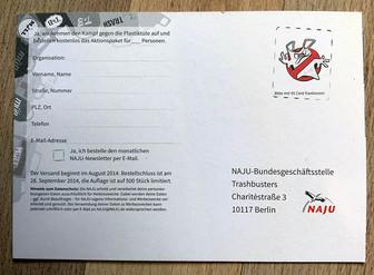 Postkarten zum Teilnehmen.