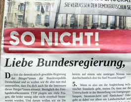 Ke:onda Sonderausgabe 02/2015, anlässlich der bundesweiten TTIP-Demonstration in Berlin.