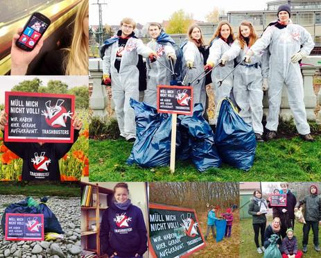 Trashbuster-App, Sweatshirts und Aktionen Foto oben rechts: Torben Hoeke