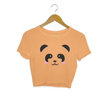 Stay Like Panda Cute and Strong Crop Top