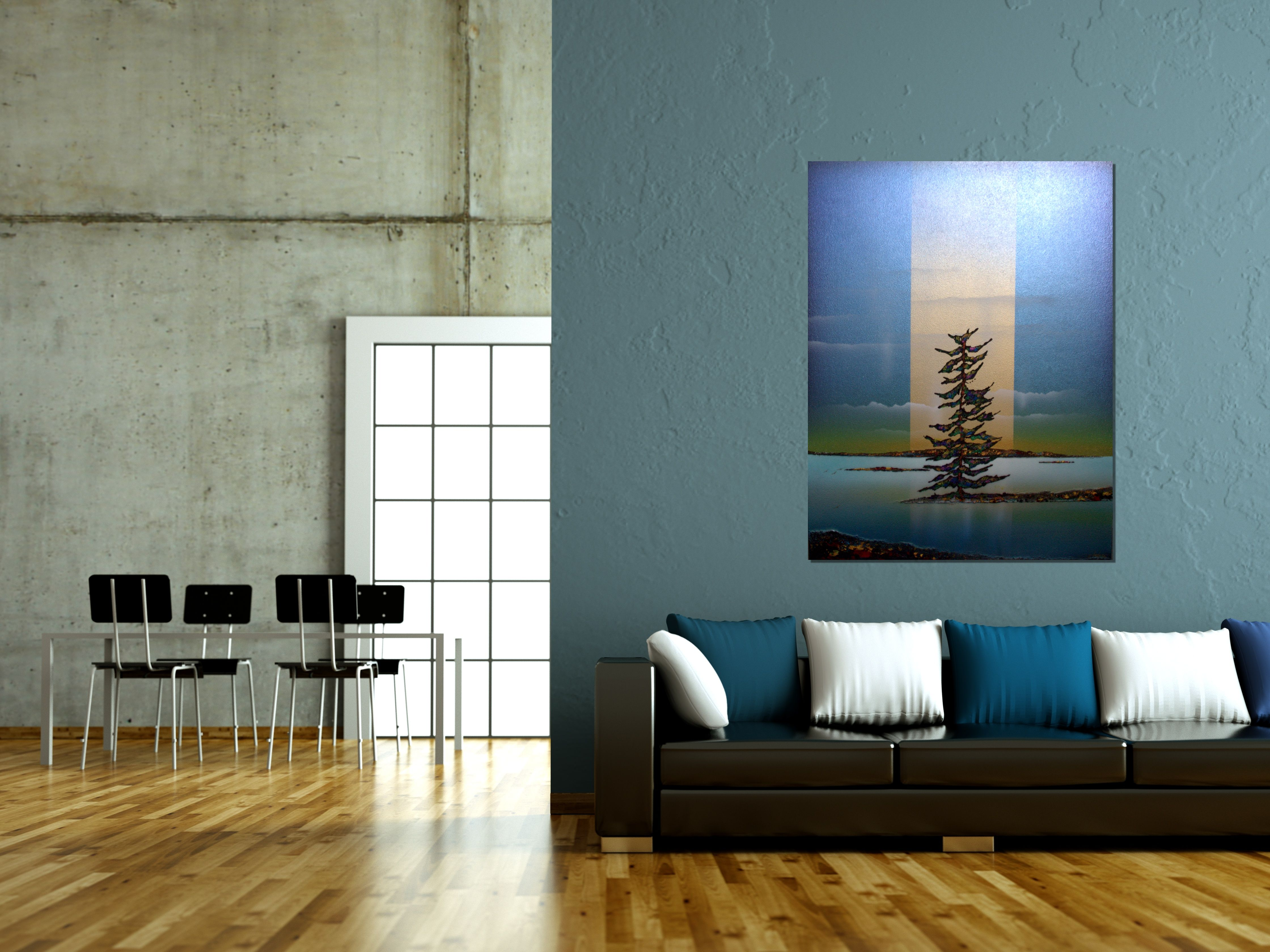 PINES IN BLUE