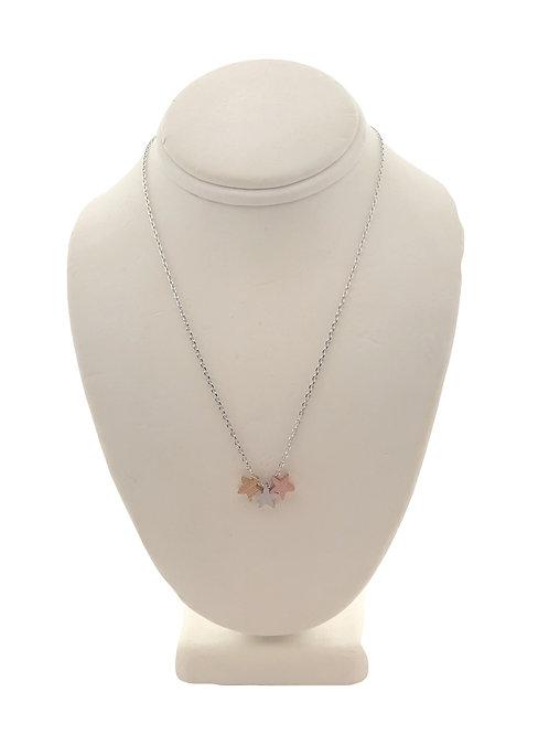 Tri-Color Star Necklace