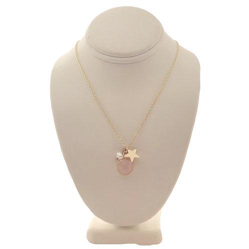 Rose Quartz & Pearl Necklace