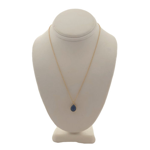Teardrop Necklace-Lapis