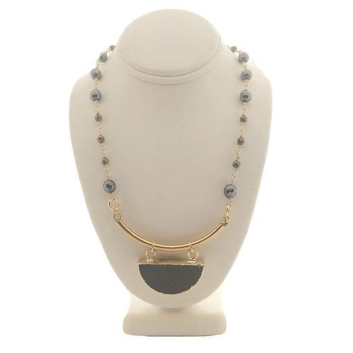 Half-Moon Bar Necklace