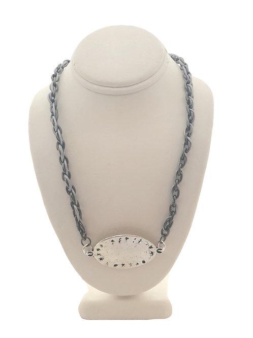 Gray & Silver Necklace