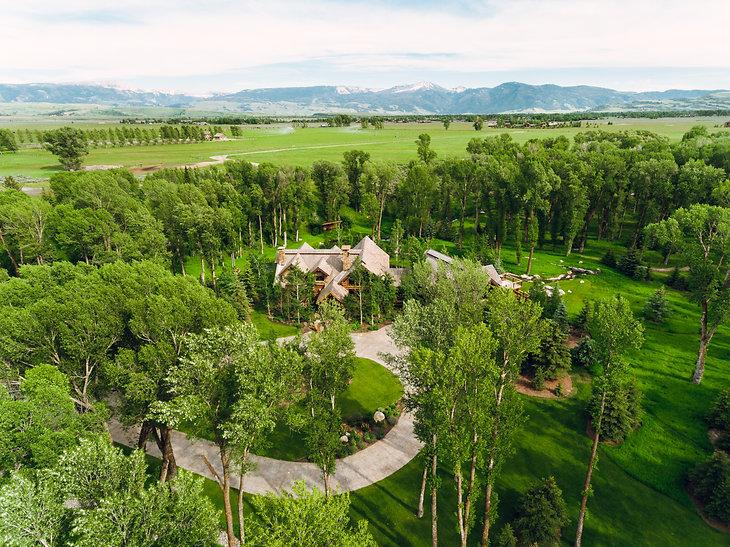 split creek ranch aerial
