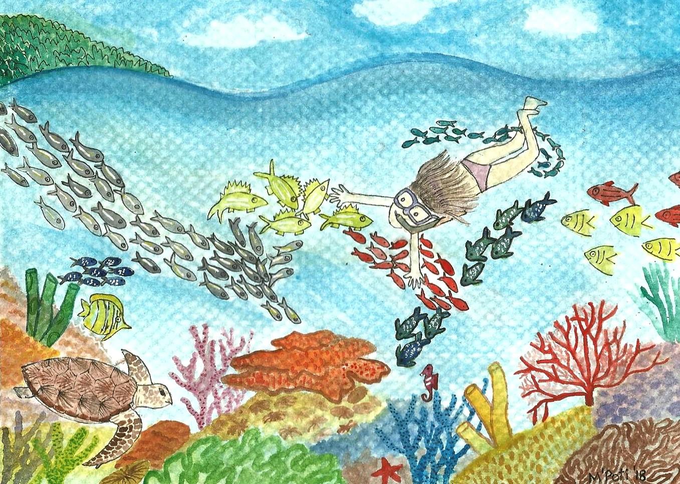 The innocence in the ocean