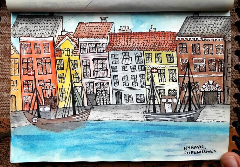 The Copenhagen waterfront