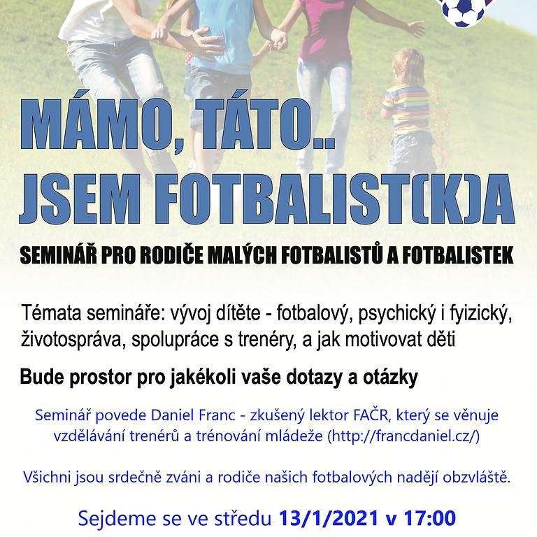 Seminář pro rodiče malých fotbalistů a fotbalistek
