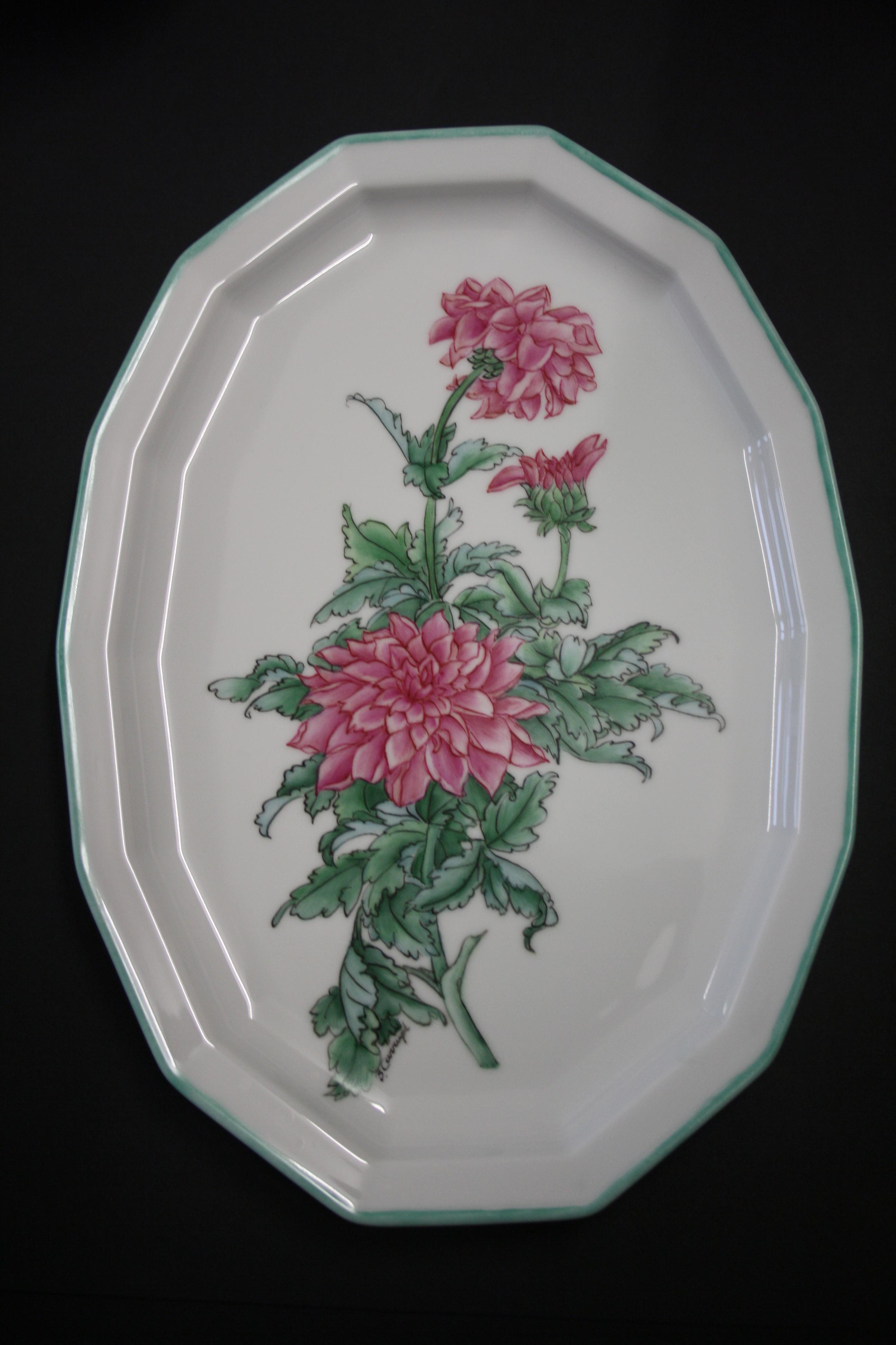 Chrysanthème en style chinois