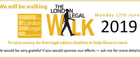2DRJ to take part in the London Legal Walk 2019