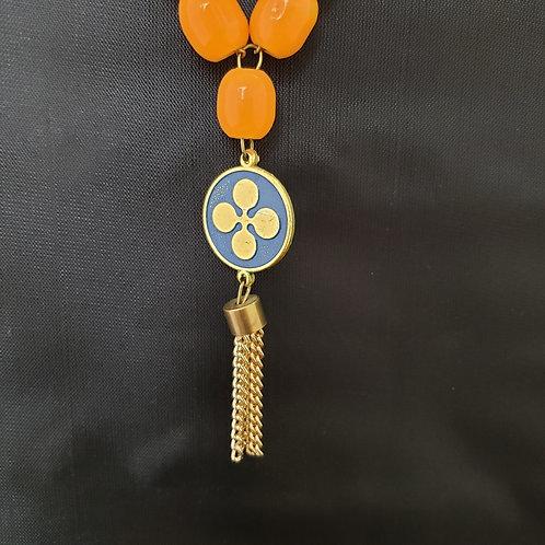 Orange and Bronze Tone Tassel