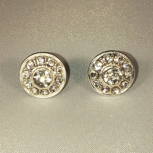 Clear rhinestone stud earrings