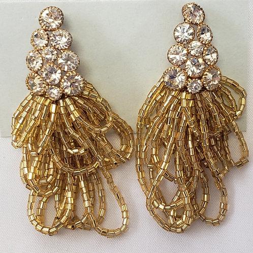 Rhinestone and beaded earrings