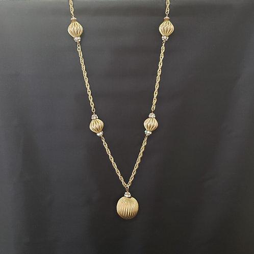 Gold Tone and Rhinestone Necklace