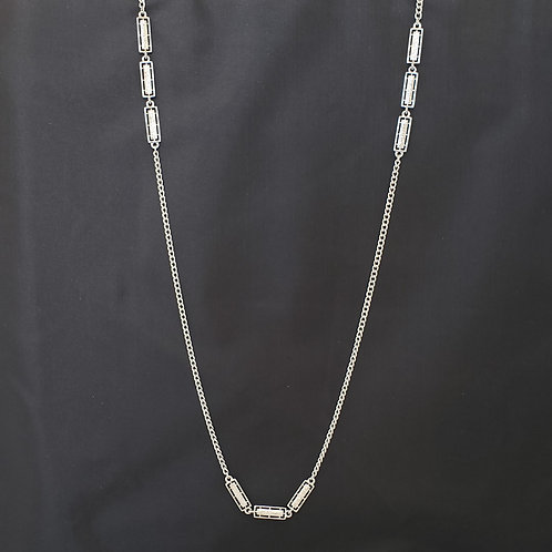 "Silver Tone ""Monet"" Chain Necklace"