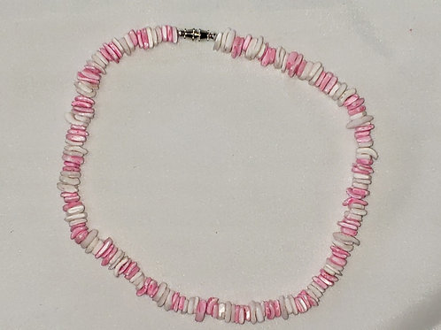 Pink and White shell necklace