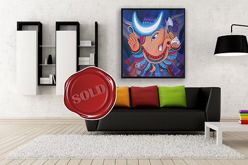 Bhalchandra - The Ganesha With The Moon - Original Painting