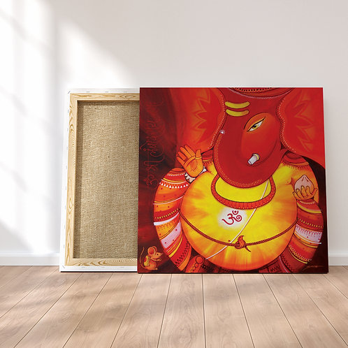 Lambodar - Large Belly Ganesha - Original Painting
