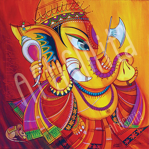 Ekadanta - The One Tusked Ganesha - Canvas Print