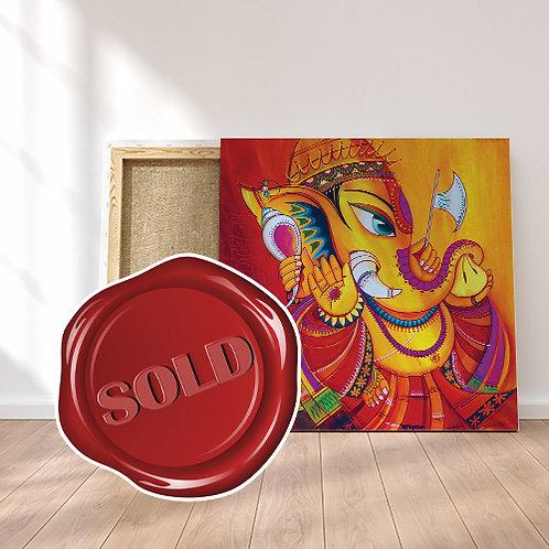 Ekadanta - The One Tusked Ganesha - Original Painting