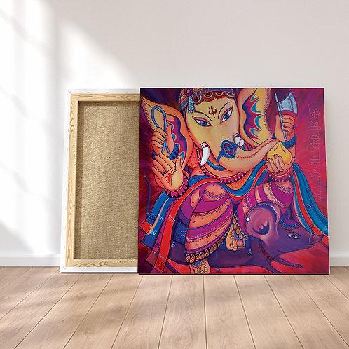 Mushkavahana - Ganesha & his Mouse - Original Painting